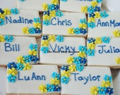 Edible cookie place cards custom made to match