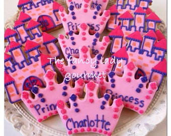 Princess and castle cookies 1 dozen