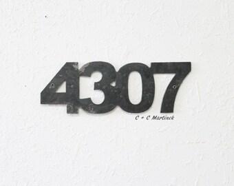 Metal Address Number Set of 4 numbers
