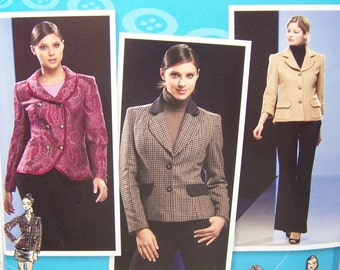 Simplicity 2810 Misses' Sewing Pattern, Lined Jacket with Collar Variations, Project Runway Pattern, High Fashion Plus Size 12 - 20 Pattern
