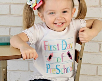 First Day of Preschool shirt, Back- to-School Shirt, First Day of ...