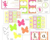 Fairy Garden Birthday Party - Full Printable Party Collection - The TomKat Studio