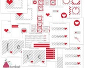 Valentine's Day Party Printable Collection - Simply Sweet by The TomKat Studio