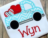 Machine Embroidery Design Applique Truck Hearts 3 INSTANT DOWNLOAD