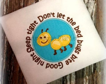 Machine Embroidery Design Applique Beg Bugs Bite INSTANT DOWNLOAD