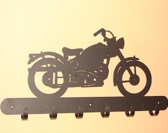 Vintage Motorcycle COAT RACK Robe Hook Metal Cabin Old Harley Shop Garage