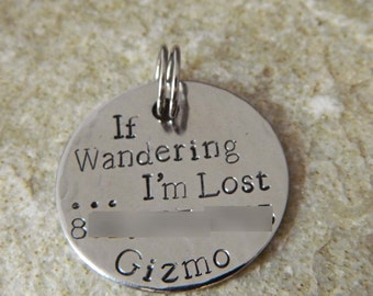 If Wandering....I'm Lost Pet ID Tag