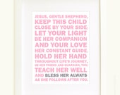 Bless Her Always Prayer in light pink and gray