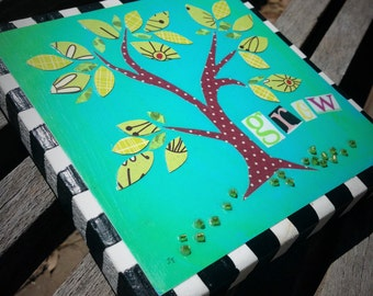 Grow Tree 5.5 inch art block