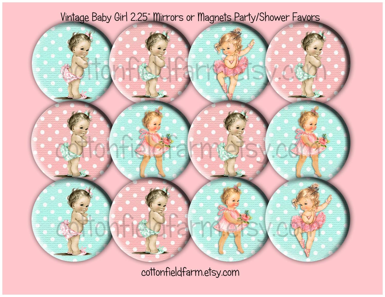 Baby Shower Favors Vintage ~ Baby shower favors vintage retro girl images inch