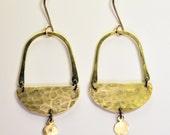 Hanging Moon Basket Earrings