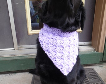 Orchid Large Pet Bandanna, Soft dog bandana, Collar Cover, Dog Clothing, Ready to Ship