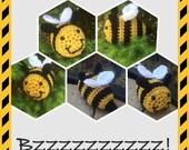 Bee toy, bumble bee baby, bee nursery theme, bee stuffed toy, bee amigurumi