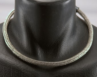 Stainless Steel Viking Knit Torc , SCA, LARP, PIRATE