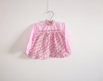 Vintage Pink Floral Baby Dress