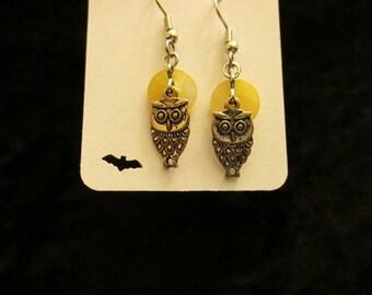 Moonlight Owl Earrings