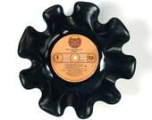 Foghat Vinyl Record Bowl Vintage LP Album 1975 (Fool for the City) Light Orange Peach Label