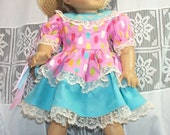 Pastel Popsicles dress for American Girl