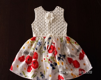 Crochet  Dress  PDF Pattern No 98
