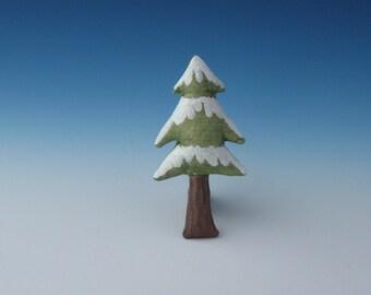 Christmas Tree Ornament, Fiber Art Christmas Tree, Folk Art Christmas Tree