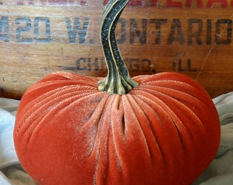Scented Velvet Pumpkin, Harvest Orange