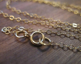 """Shop Sale..5 pcs, 16"""" in inches, 14k Gold Filled Chain, FINISHED Necklace, 2X1.4 mm, Flat Cable..  done wholesale sale.. g1.16.."""