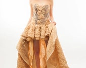 SALE Nude Crystal Dream Corset Gown Size Small WAS 1200