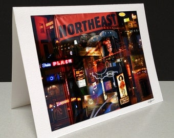 Nordeast Nocturne 5 x 7 Greeting Card - Northeast Minneapolis, MN