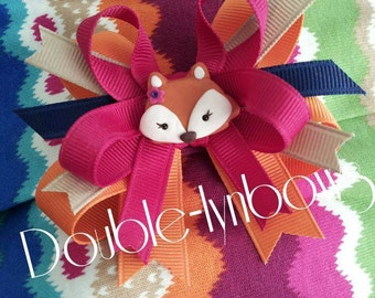 Fashionable Fox hairbow M2MG M2M gymboree from Double-lynbows