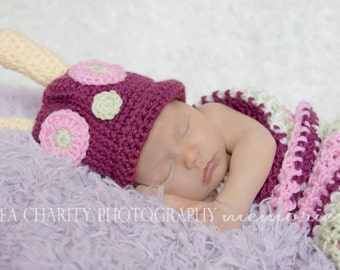 On Sale Pink 3-6 month Baby Girl Caterpillar Photo Prop Halloween Costume