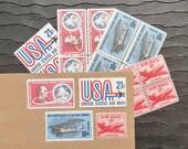 Par Avion .. Air Mail .. PREMIUM .. UNused Vintage Postage Stamps  .. post 5 letters