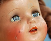 antique composition with plastic covering doll's head, moving eyes, Home Decor, L