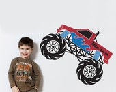 Monster Truck Decal Personalized Name for Kids