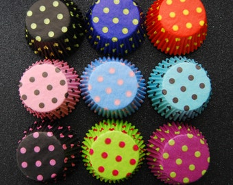 Assorted Big Polka Dot Cupcake Liners Collection (45 liners)