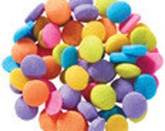 Mini Neon Quin Sprinkles  (4 ounces) 1/4 pound