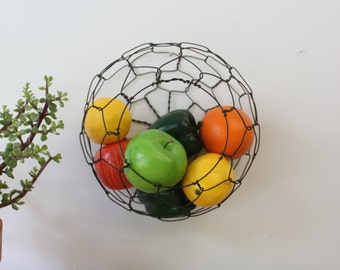 Wall Hanging Half Round Wire Basket