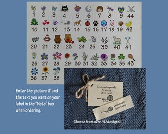 Personalized Crochet  Labels-Medium Size Label /Tag Combo