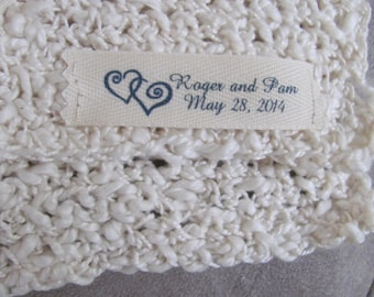 Custom Labels to Personalize your Wedding Gift, Bridesmaid Gift and Wedding Party Gifts.