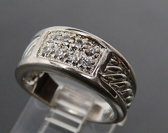 Size 5 1/2  Band Ring Sparkle High Quality Cz can be use as Wedding Band or Stackable  Ring Sterling