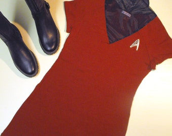 Star Trek Uhura Womens Halloween Costume Uhura Dress MADE TO ORDER