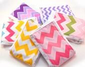 Girl Burp Cloths set of 6 - Your Choice Chevron Diaper Burp Cloths