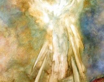 ANGEL ART PRINT, Angel Print, Wall Decor, Spiritual, Home Decor, Guardian Angel