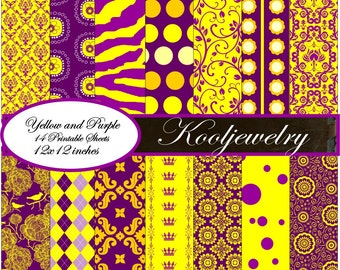 Purple and Gold Paper Pack No.160