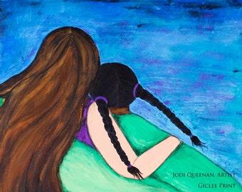 Adoption Art Adoption Gift Mother and Daughter