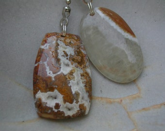 Fan Dangle / Druzy Agates on Silver Light Pulls Switch Pull Golden Honey White Crystal Clear