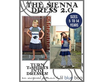 DIY PDF Pattern and Tutorial - The Sienna Dress 2.0 - Sizes 5 to 14