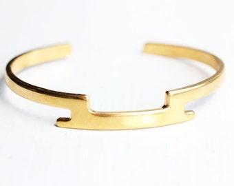 Gold Step Bar Bracelet