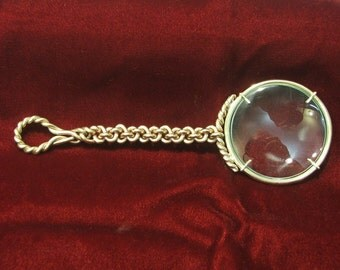 Wrought Brass Magnifying Glass