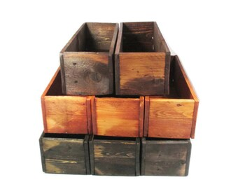 Wedding Table Decor -  20 Centerpiece Boxes - Rustic Wedding - Reclaimed Wood