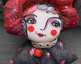 Original art doll  Little lady bust. made and painted by hand OOAK from miliaart studio